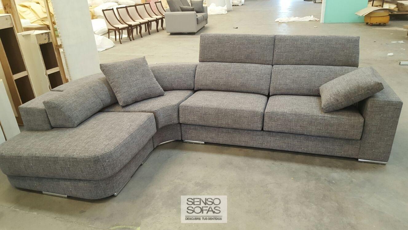 Sofa comodo rinconera luna con terminal redondo - Tela para sofa ...